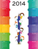 Calendar on 2014 year. Cute and colorful calendar on 2014 year Stock Photography