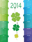 Calendar on 2014 year Royalty Free Stock Image