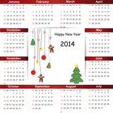 Calendar on 2014 year Stock Photo
