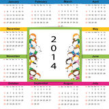 Calendar on 2014 year Royalty Free Stock Images