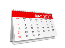 Calendar for 2017 year. 3d illustration isolated on white background Royalty Free Stock Photography