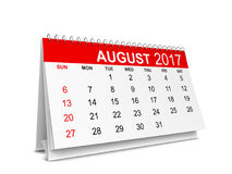 Calendar for 2017 year. 3d illustration isolated on white background Royalty Free Stock Photo