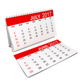 Calendar for 2017 year. 3d illustration isolated on white background Royalty Free Stock Photos
