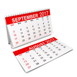 Calendar for 2017 year. 3d illustration isolated on white background Stock Images