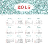 Calendar 2015 year with decorative pattern. Vector, eps 10 Royalty Free Stock Images