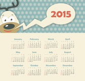 Calendar 2015 year with deer. Vector, eps 10 vector illustration