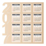 Calendar 2017 Year Design Royalty Free Stock Photography