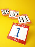 Calendar year-end Royalty Free Stock Photo