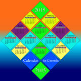 Calendar for 2015 year. Royalty Free Stock Photography