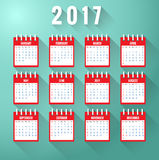 Calendar for year 2017 Stock Photo