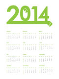 2014 calendar. 2014 year  calendar with flower design Royalty Free Stock Photography