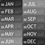 Calendar for year 2018 with gray card illustration. Calendar for year 2018 with gray card art  illustration Stock Image
