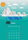 Calendar for 2017 year Royalty Free Stock Photography