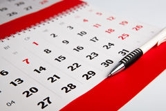 Calendar of the year. Macro Royalty Free Stock Images
