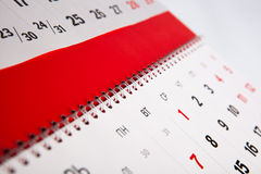 Calendar of the year Stock Photography