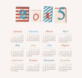 Calendar 2015 year Stock Photography