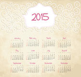 Calendar 2015 year Stock Images