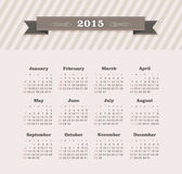 Calendar 2015 year Royalty Free Stock Images