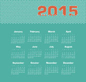 Calendar 2015 year Stock Photo