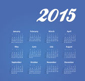 Calendar 2015 year. The modern calendar 2015 year vector, eps 10 royalty free illustration
