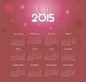 Calendar 2015 year Royalty Free Stock Photo