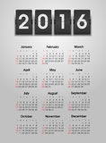 Calendar 2016 year. The modern calendar 2016 year vector, eps 10 royalty free illustration