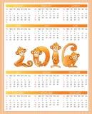 Calendar year. Monkey Royalty Free Stock Photos