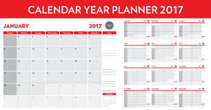 Calendar year planner 2017. A calendar year planner 2017 Stock Photo