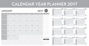 Calendar year planner 2017. A calendar year planner 2017 Royalty Free Stock Photography