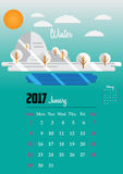 Calendar for 2017 year. Calendar Planner Design for 2017 year Royalty Free Stock Photos