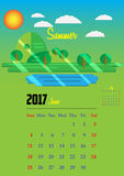 Calendar for 2017 year. Calendar Planner Design for 2017 year Royalty Free Stock Image