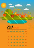 Calendar for 2017 year. Calendar Planner Design for 2017 year Stock Photos