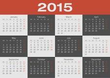 Calendar. Of 2015 year, Planner, organizer Royalty Free Stock Photos