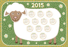 Calendar 2015 Year of sheep Stock Photo