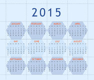 Calendar for year 2015. Simply frame designed calendar for year 2015 Stock Images