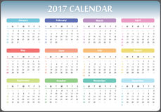 Calendar 2017 year Royalty Free Stock Images
