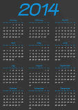 Calendar year template Royalty Free Stock Photos