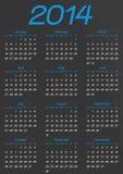 Calendar year template Royalty Free Stock Photos