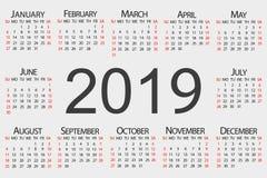 Calendar year. Vector design template stock illustration