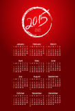 Calendar year  2015. Vector illustration Royalty Free Stock Photo