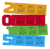 Calendar year  2015. Vector illustration Royalty Free Stock Image