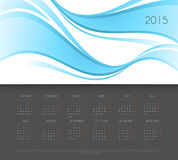 Calendar for 2015 year. Vector illustration of Calendar for 2015 year Royalty Free Stock Photo