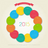 Calendar for 2015 year. Vector illustration of Calendar for 2015 year Stock Photo