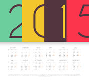 Calendar for 2015 year. Vector illustration of Calendar for 2015 year Stock Illustration