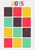 Calendar for 2015 year Stock Photos