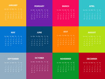 Calendar for the year 2016. Vector illustration.  Stock Images