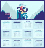 Calendar for the 2015 year.. Vector illustration, simple flat calendar with the symbol of the year Vector Illustration