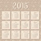 Calendar for 2015 year Stock Photography