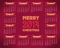 Calendar Year 2014 Vector Template. Calendar 2014 web site or print Stock Illustration