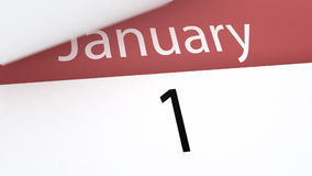 Calendar (year). Calendar (year version), 3d animation vector illustration